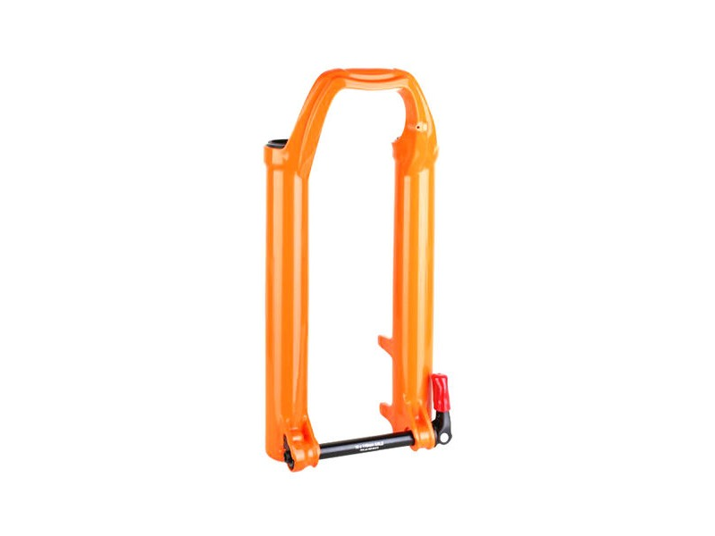 "FOX RACING SHOX Fork 36mm 2018 Lower Leg Assembly 27.5"" 180mm 15X110 QR Orange click to zoom image"