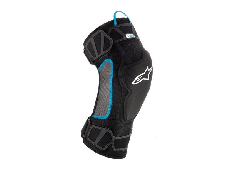 ALPINESTARS Eride Knee Protector 2019: Black Cyan click to zoom image