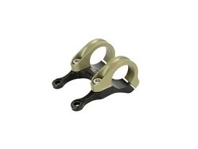 RENTHAL Integra II Stem 10mm Rise 50mm Black/Gold  click to zoom image
