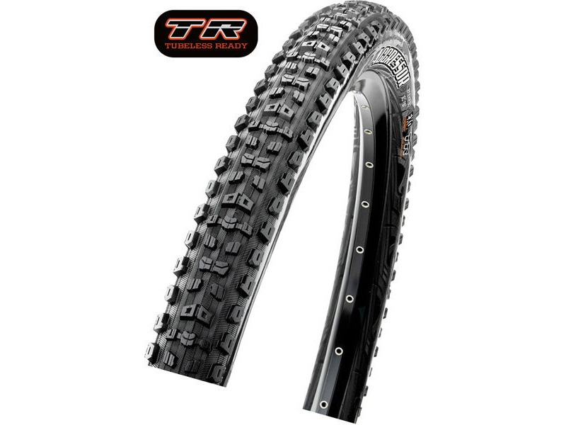 MAXXIS Aggressor 27.5x2.50WT 120 TPI Folding Dual Compound TR/DD click to zoom image