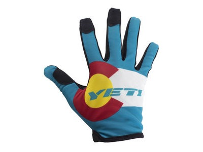 YETI Colorado Flag Glove Turquoise/White S