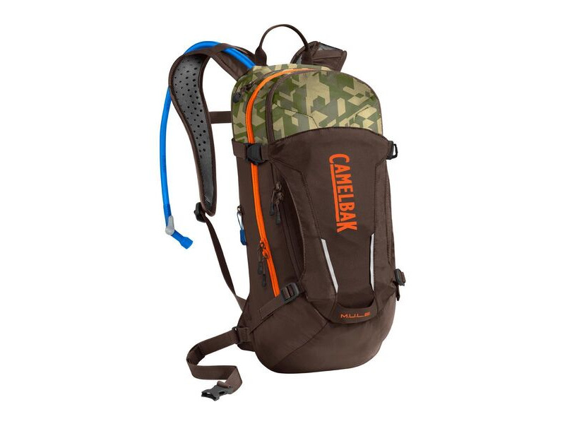 CAMELBAK Camelbak Mule Hydration Pack 2020: Russet Orange/Camelflage 3l/100oz click to zoom image