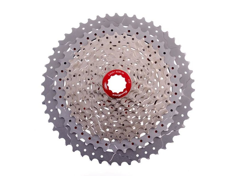 SunRace MX80 11-50t Cassette Champagne click to zoom image