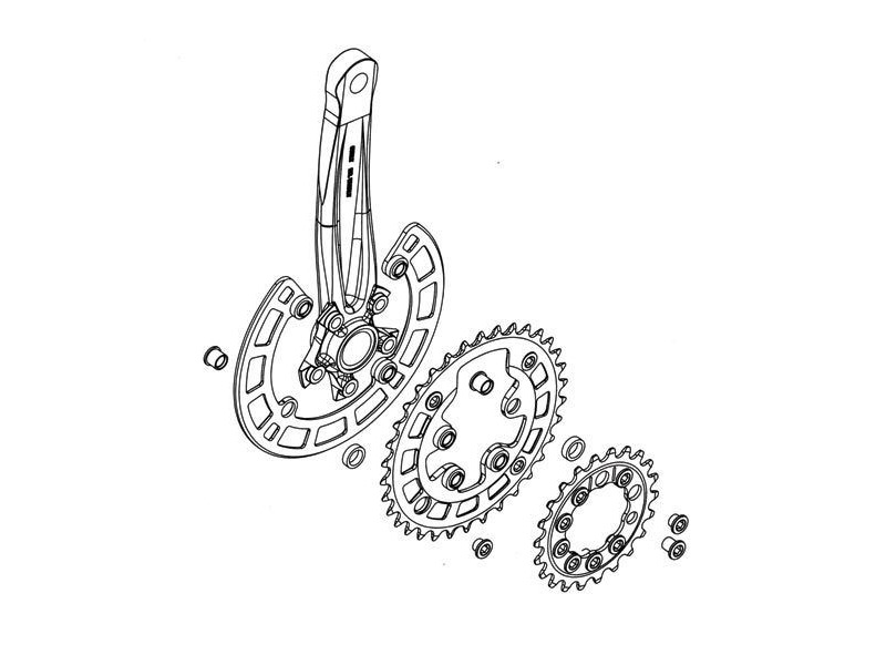 SURLY Mr. Whirly Pugsley Crankset click to zoom image